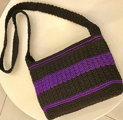 Purple & Black Bag