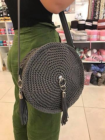Round Grey Bag