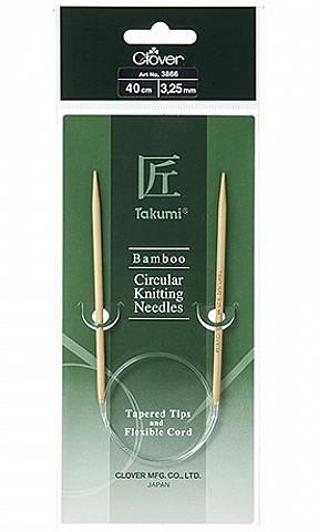 "40cm Bamboo Circular Knitting Needles ""Takumi"""
