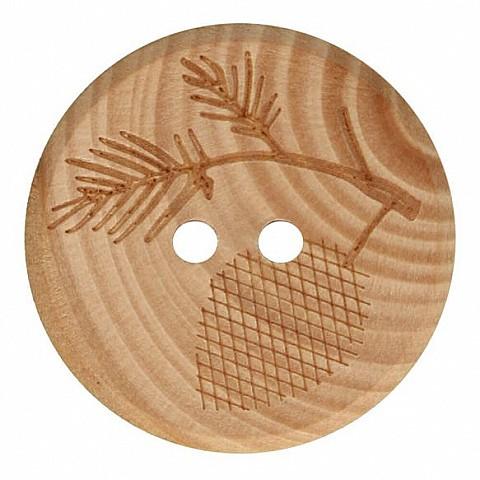 Wooden button branch