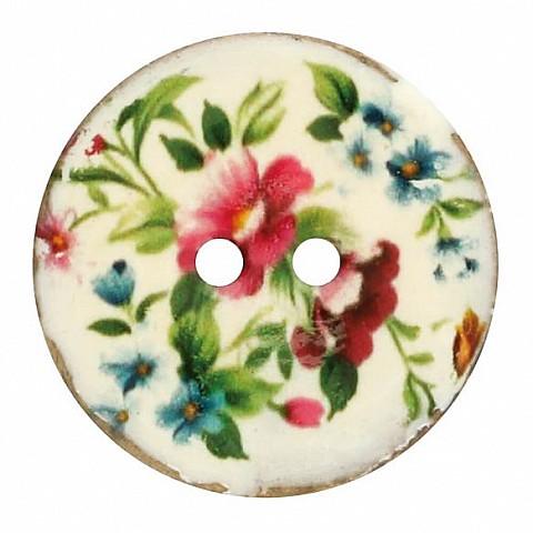 Button Coconat Flower